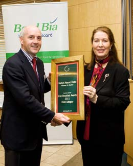 Irish Breakfast Awards 2011 - Hotel Winner - Kellys Resort hotel Rosslare Strand County Wexford Ireland