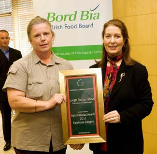 Irish Breakfast Awards 2011 - Farmhouse Winner - Lough Bishop House Collinstown County Westmeath Ireland