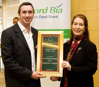 Irish Breakfast Awards 2011 - Guesthouse Winner - Iveyleigh House Portlaoise County Laois Ireland