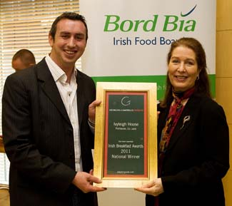Irish Breakfast Awards 2011 - National Winner - Ivyleigh House Portlaoise County Laois Ireland