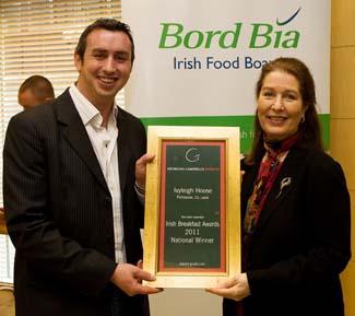 Irish Breakfast Awards 2011 - National Winner - Ivyleigh House Portlaoise County Laois Ireland