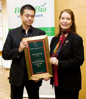 Ethnic Restaurant of the Year 2011 - China Sichuan Sandyford Dublin Ireland