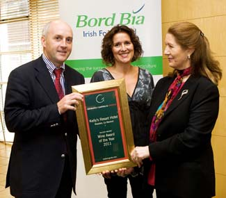 Wine Award of the Year 2011 - Kellys Resort Hotel Rosslare Strand Co Wexford