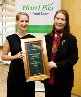 Casual Dining Award 2011 - Miss Courtney's Tea Rooms - Killarney County Kerry ireland