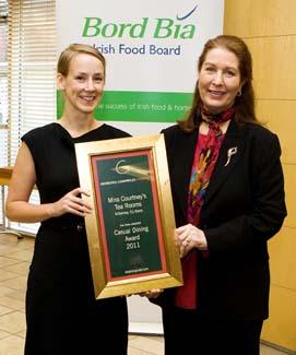 Casual Dining Award 2011 - Miss Courtney's Tea Rooms - Killarney County Kerry ireland