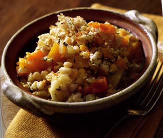 Pumpkin and Parsnip Cassoulet