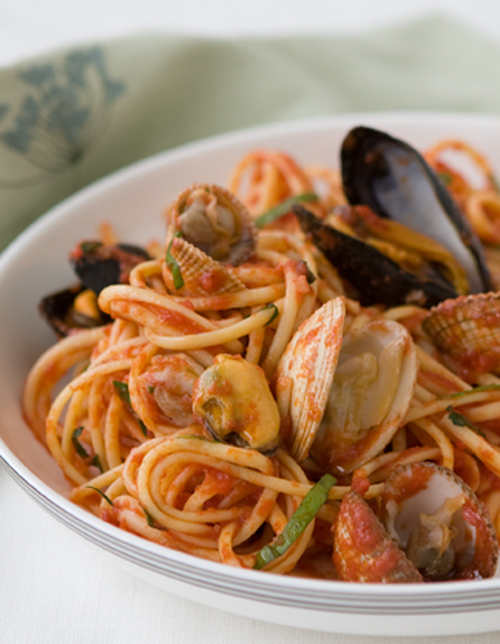 Summer Seafood Linguine Marinara