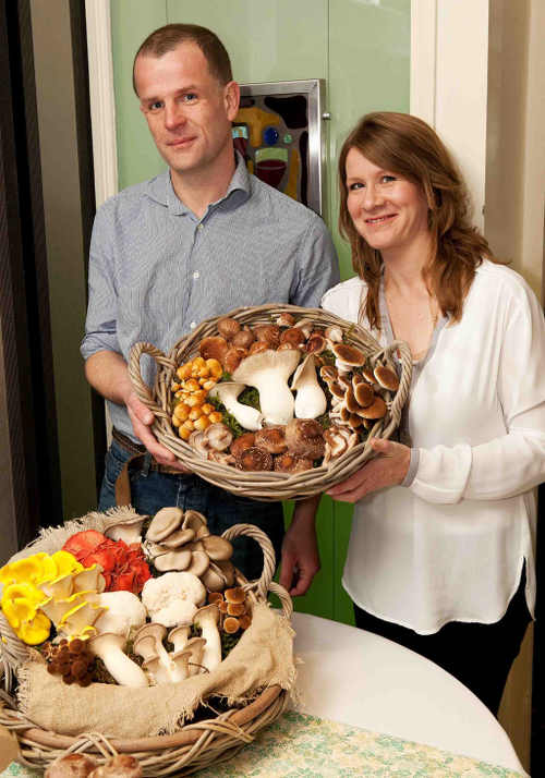 Lucy Deegan & Mark Cribbin of Ballyhoura Mushrooms
