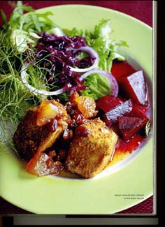 Fried Cooleeney Cheese with Beet Salad