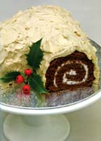 Buche de Noel from Julie Duff's book Cakes From Around the World