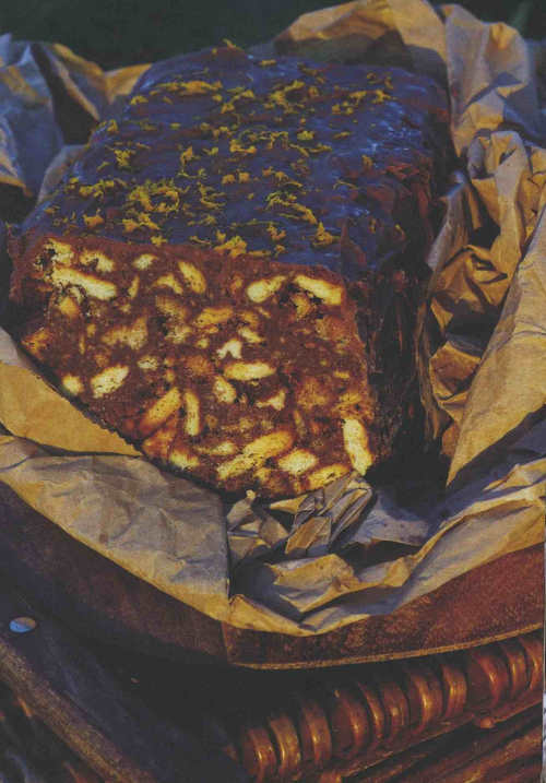Chocolate Orange Biscuit Cake by Nessa Robins