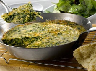 Green Frittata with Sea Spinach Salad