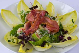 ONeills Dry Cured Bacon salad with figs and an apple & honey dressing