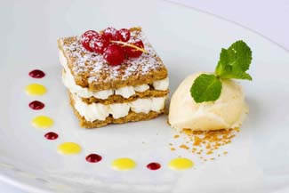 Flahavans mille feuilles flapjacks with lemon cream