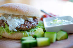 Greek Style Lamb Burgers with Floury Baps