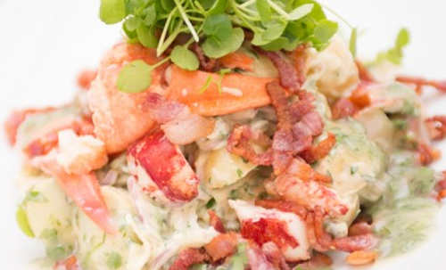 Lobster and Comber Potato Salad With Crispy Bacon & Tarragon