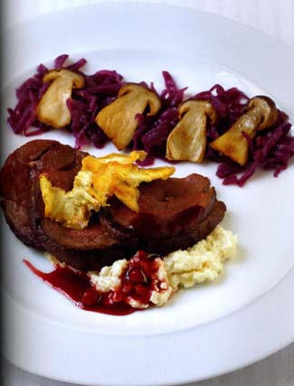 Loin Of Venison With Celeriac Puree