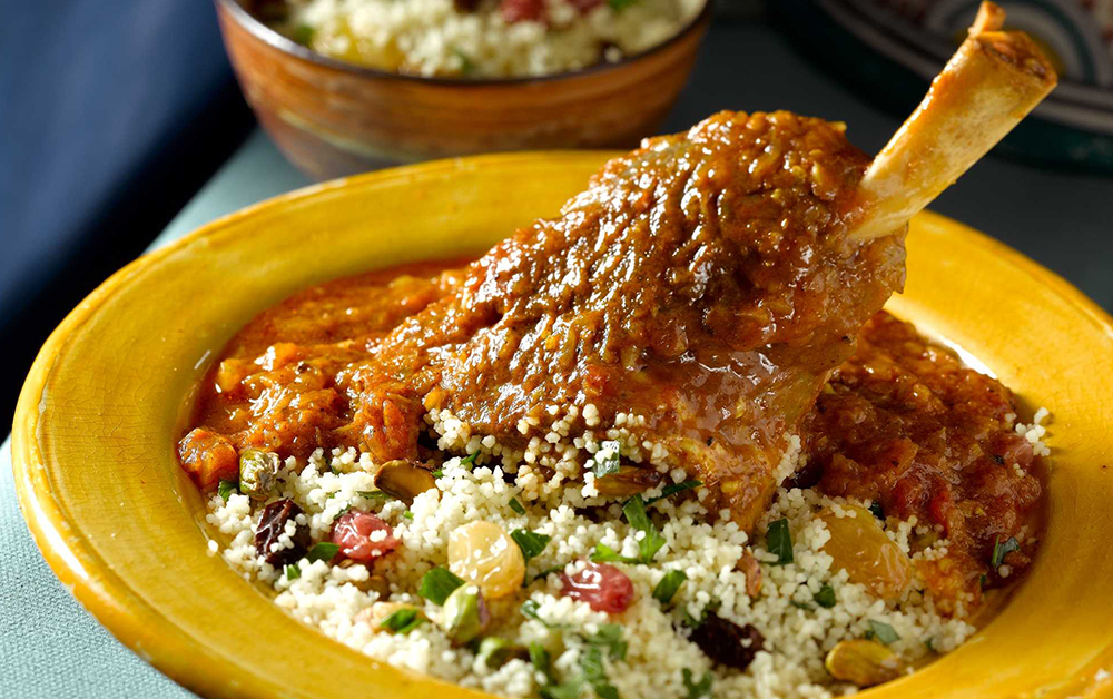 Moroccan Style Braised Lamb Shanks