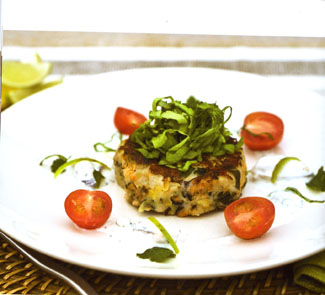 Spicy mussel cakes
