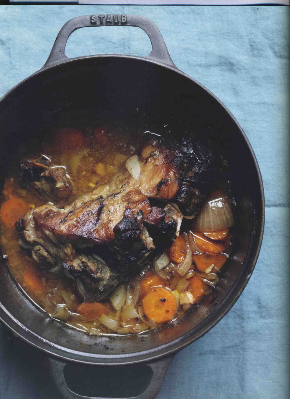 Mutton Pot Roast With Onions And Carrots