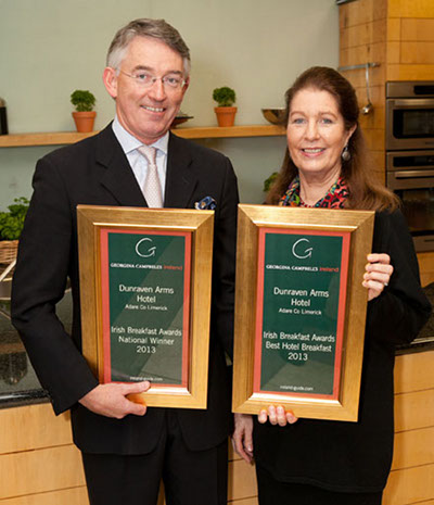 Irish Breakfast Awards 2013 National Winner | Dunraven Arms Hotel, Adare, Co Limerick