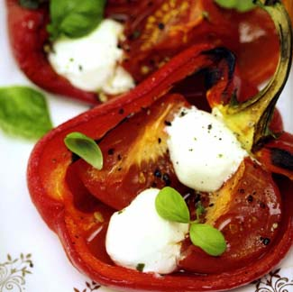 Roasted Pepper with Boilie Cheese