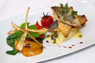 Sol Bistro - Thomastown County Kilkenny Ireland - pan seared seabass