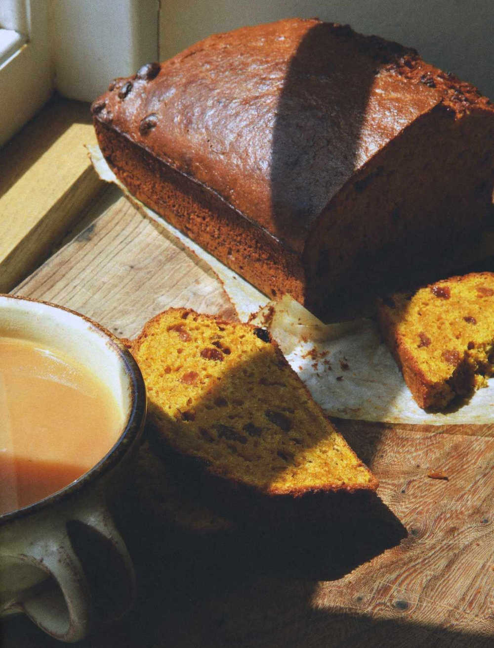 Pumpkin And Raisin Tea Loaf