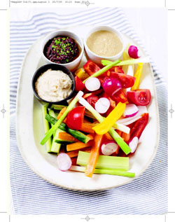 Crudites with White Bean Dip from Rachel Allen's Hom Cooking