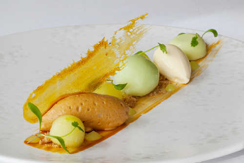 Irish Atlantic Sea Salt & caramel mousse with Stonewell apple cider sorbet