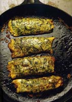 Seaweed Crêpes with Prawns