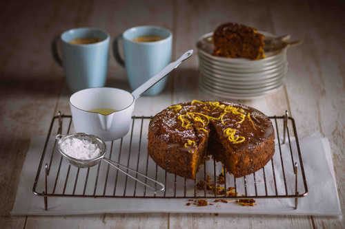 Sticky Ginger Bread Cake with Lemon Drizzle