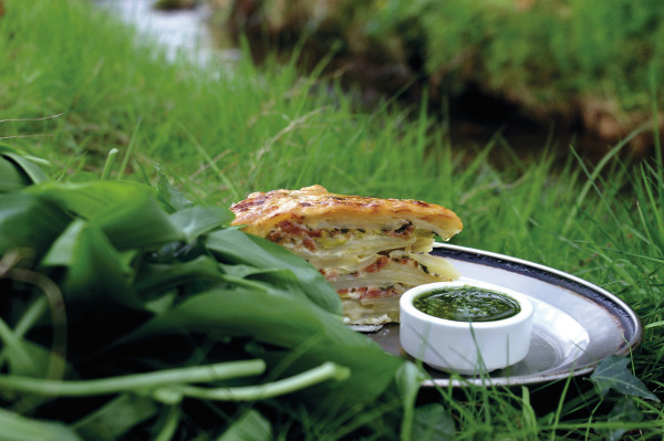 Wild Garlic, Leek & Potato bake