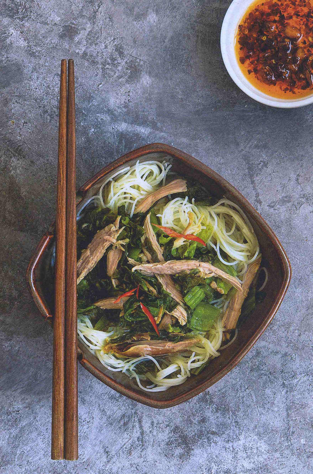 Vermicelli With Roast  Duck In Soup