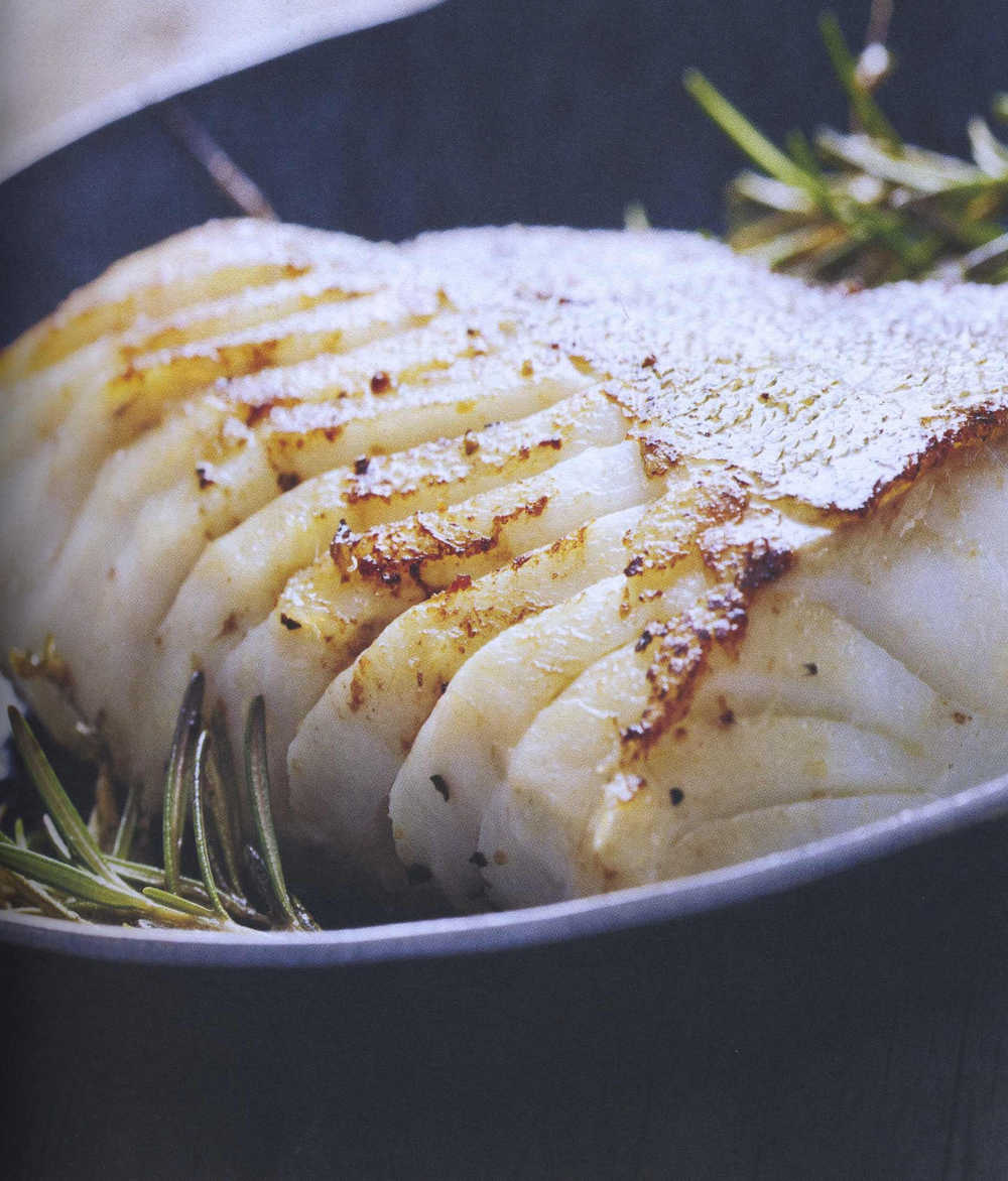Pan-seared and roasted lemon cod (courtesy of Egan's Ocean Fresh)