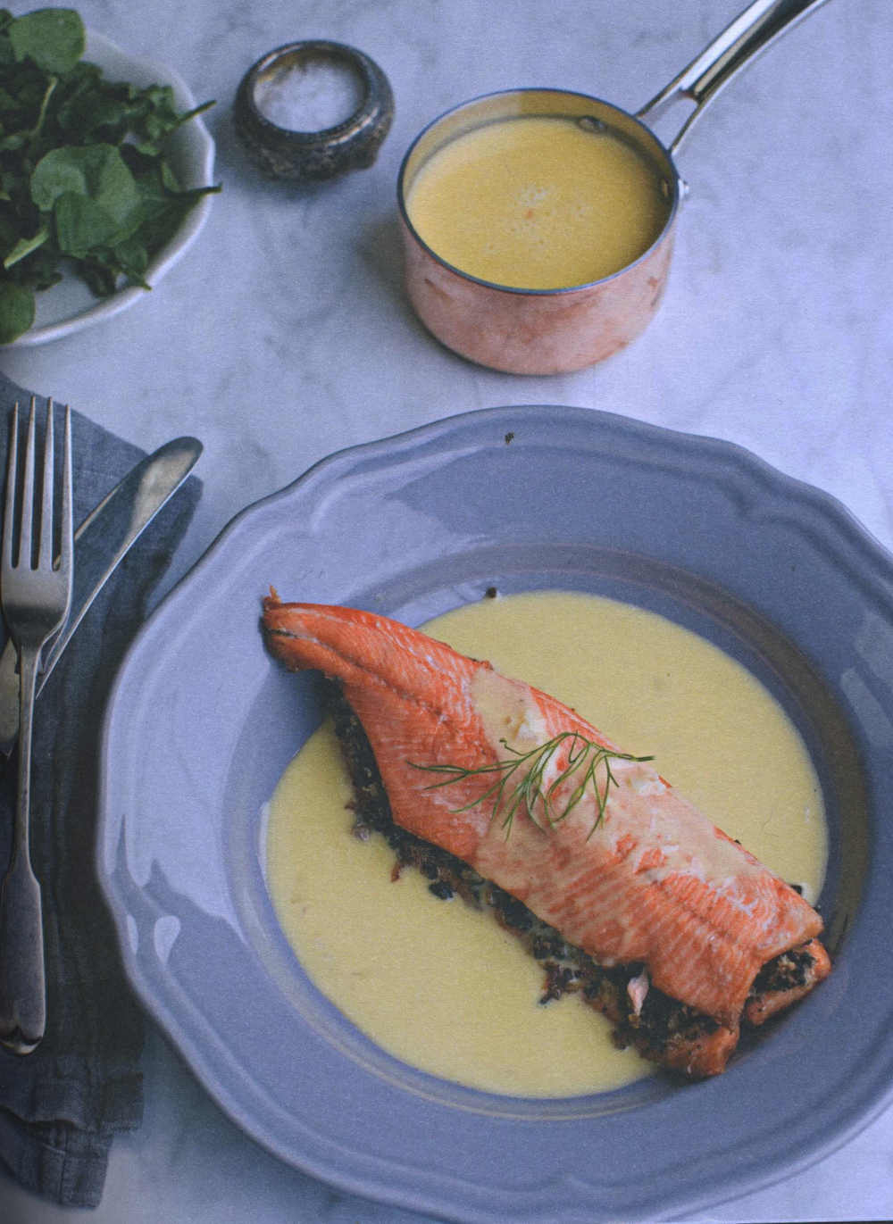Trout with Inch House Black Pudding & Beurre Blanc