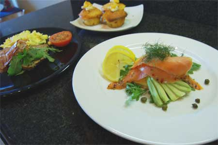 The Herons Rest - Salmon Breakfast