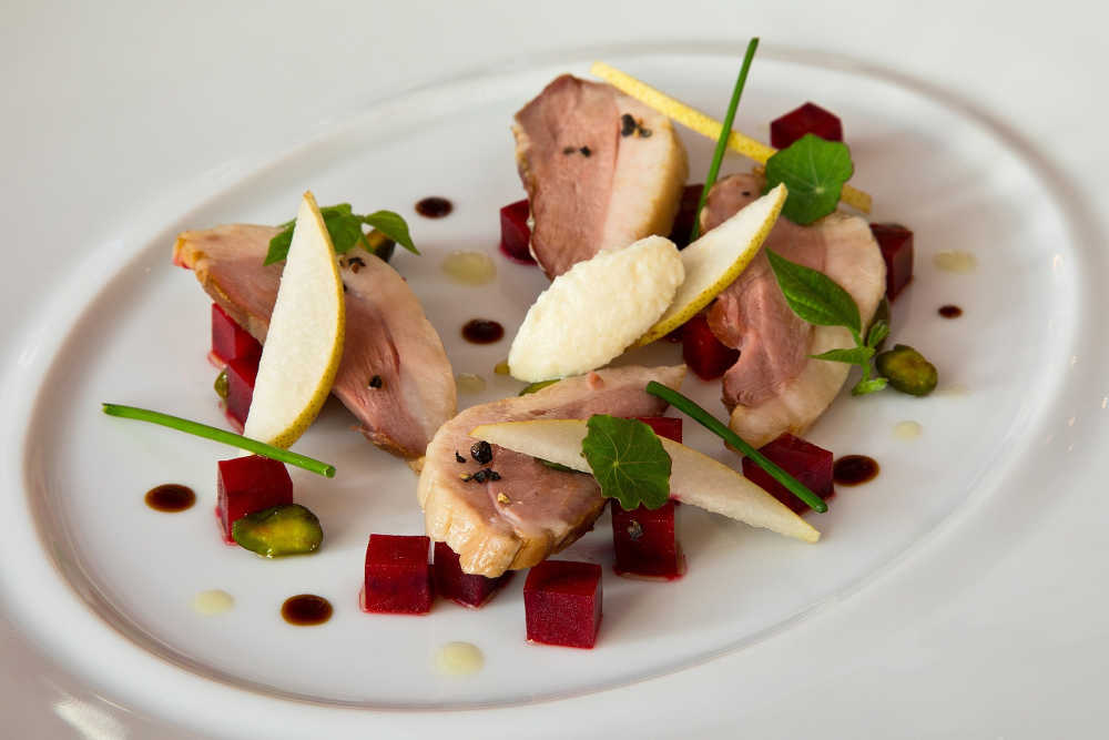 Salad of Ummera Smoked Silver Hill Duck Breast with Beetroot and Horseradish