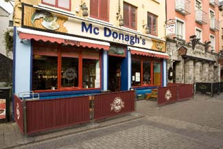 McDonaghs Seafood House - Galway City Ireland - exterior