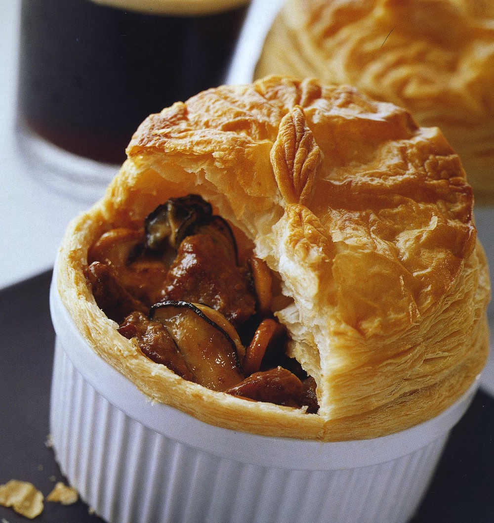 Oyster and Stout beef pie