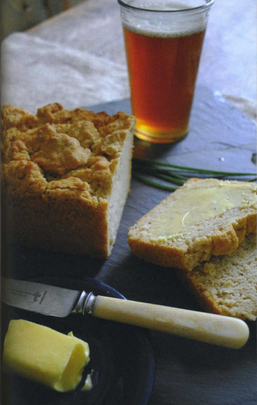Cheddar, Chive and Red Ale Bread