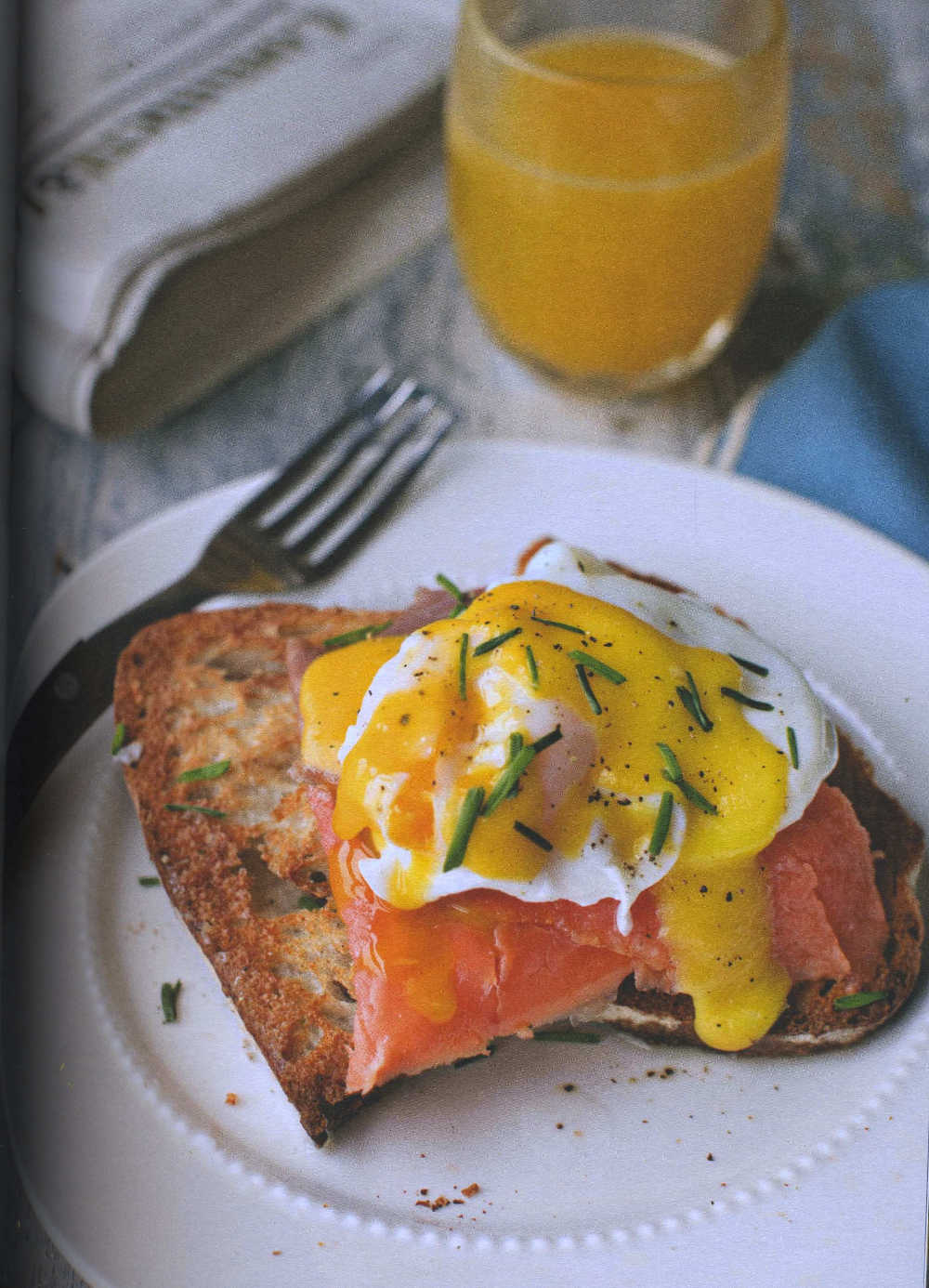 Smoked Trout with Poached Eggs & Hollandaise Sauce