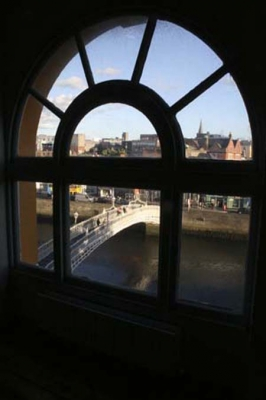 The Winding Stair - View over the River Liffey