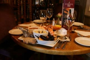 Currans Bar & Seafood Steak House - Ardglass County Down Northern Ireland - table