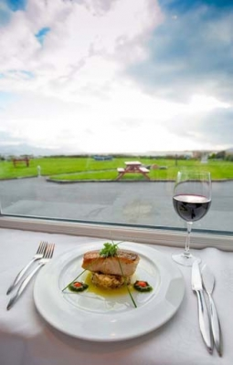 Jacks Coastguard Restaurant - Cromane County Kerry ireland - view and cod