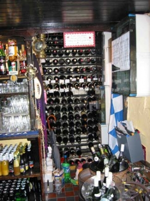 Mary Ann's Bar & Restaurant - Castletownshend County Cork Ireland - wine rack