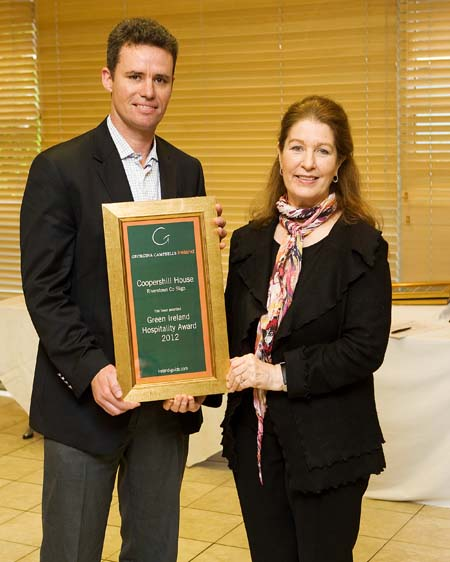 Green ireland Hospitality Award 2012 - Coopershill House Riverstown County Sligo ireland