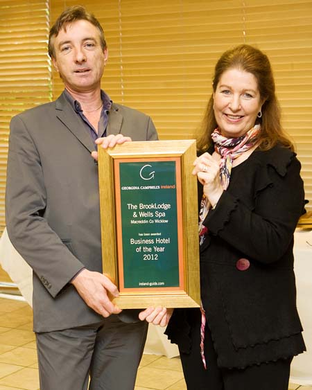 Business Hotel of the Year 2012 - Brooklodge Hotel & Wells Spa, Macreddin County Wicklow Ireland