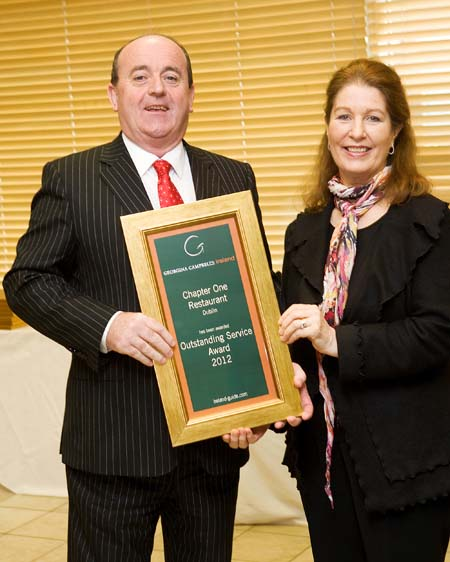 Outstanding Service Award 2012 - Chapter One Restaurant Dublin 1 Ireland