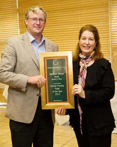 Family Friendly Hotel of the Year 2012 - Westport Woods Hotel - Westport County Mayo Ireland